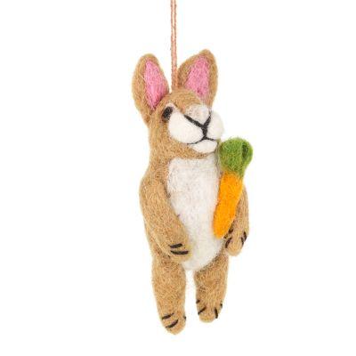 Handmade Needle Felted Regina Rabbit Easter Decoration