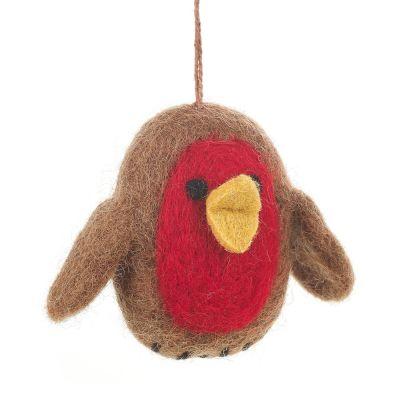 Baby Robin Hanging Biodegradable Christmas Tree Decoration