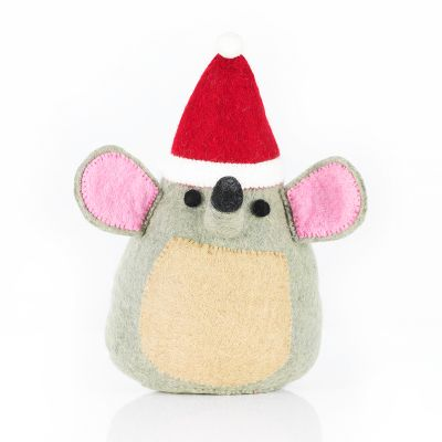 Handmade Felt Big Festive Mouse Standing Decoration
