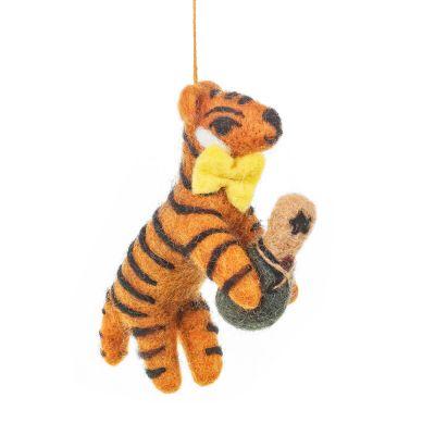 Handmade Felt Celebration Tiger Hanging Decoration