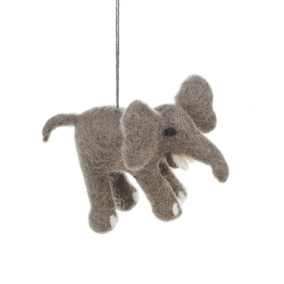 Handmade Felt Edna the Elephant Hanging Biodegradable Decoration
