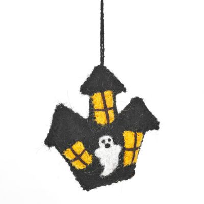 Handmade Felt Haunted House Hanging Halloween Decoration