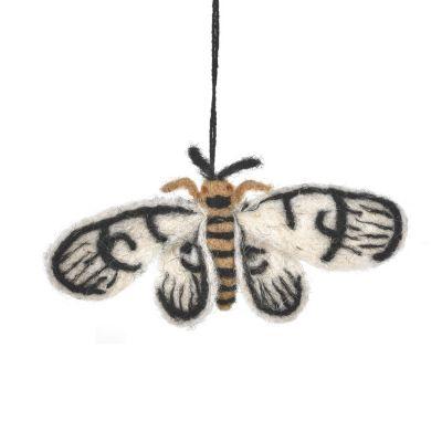 Handmade Felt Moth Hanging Biodegradable Decoration