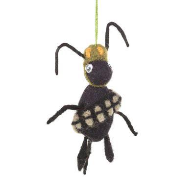 Handmade Army Ant  Hanging Fair trade Felt Decoration