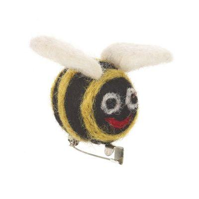 Handmade Bee Brooch Needle Felt Biodegradable Accessory