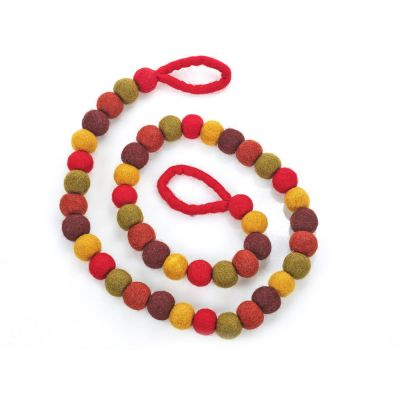 Handmade Biodegradable Felt Autumnal Bubble Garland Home Decoration