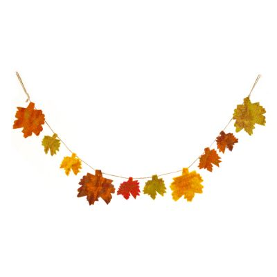 Handmade Biodegradable Felt Autumnal Leaves  Garland Home Decoration