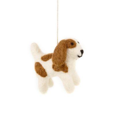 Handmade Biodegradable Felt Hanging Patch the Dog Decoration