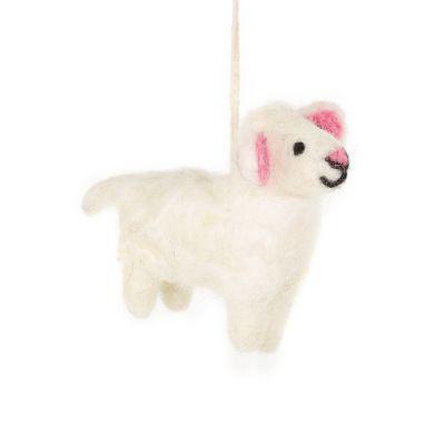 Handmae Biodegradable Felt Lulu the Lamb Hanging Easter Decoration