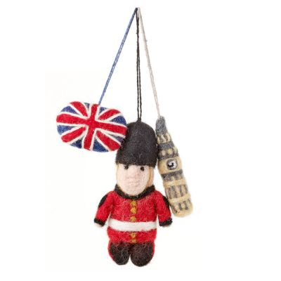 Handmade Biodegradable London Icons (Set of 3) Souvenir Hanging Decoration