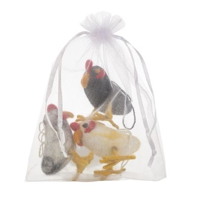 Handmade Cheeky Chickens (Bag of 3) Hanging Easter Decoration