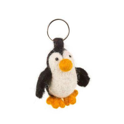 Handmade Felt Fairtrade Penguin Keyring