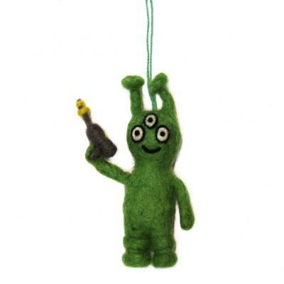 Handmade Felt Alan the Alien Hanging Decoration