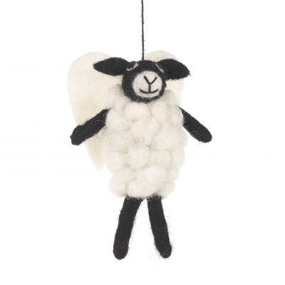 Handmade Felt Angel Sheep Hanging Biodegradable Decoration