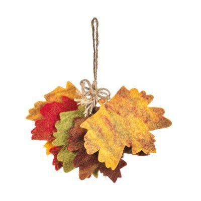 Handmade Hanging Autumnal Sprig Felt Biodegradable Decoration