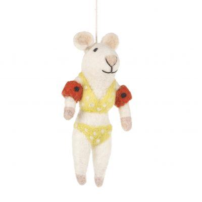 Handmade Felt Bikini Mouse Hanging Felt Decoration