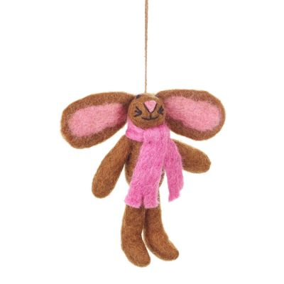 Handmade Felt Binky Bunny Hanging Easter Decoration