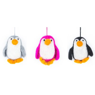 Handmade Felt Baby Penguin Hanging Decoration