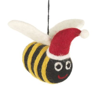 Handmade Felt Biodegradable Christmas Big Bumblebee Tree Hanging Decoration
