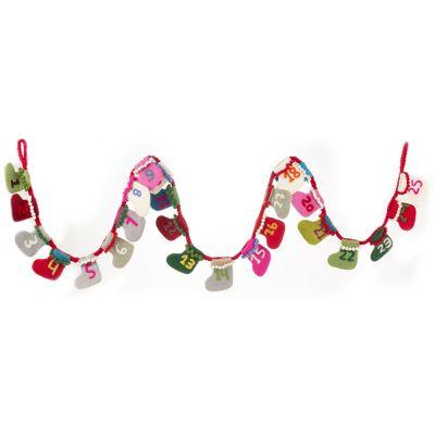 Handmade Felt Biodegradable Christmas Advent Calendar Garland