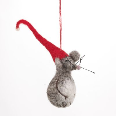 Handmade Felt Biodegradable Christmas Little Fella Hanging Decoration
