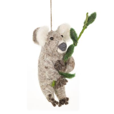 Handmade Felt Biodegradable Hanging Kenny the Koala Decoration
