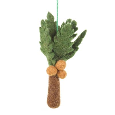 Handmade Felt Biodegradable Hanging Paradise Palm Tree Tropical Decoration