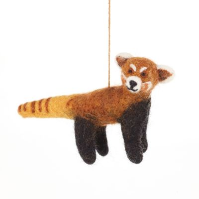 Handmade Felt Biodegradable Hanging Red Panda Safari Decoration
