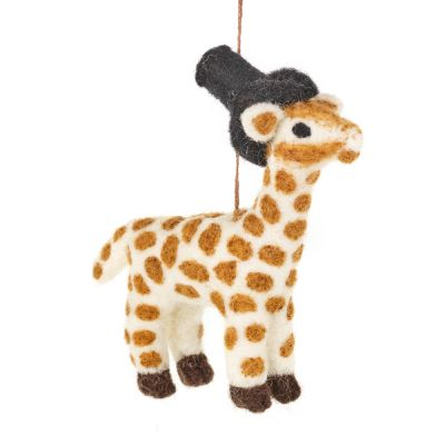 Handmade Felt Biodegradable Hanging Geoffrey Giraffe Safari  Decoration
