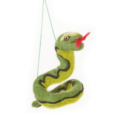 Handmade Felt Biodegradable Hanging Sssnake Safari Decoration