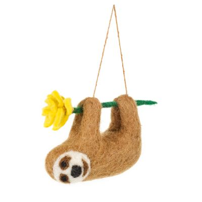 Handmade Felt Biodegradable Hanging Sunny the Sloth Easter Decoration
