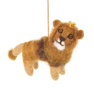 Handmade Felt Biodegradable Hanging King Leo the Lion Decoration
