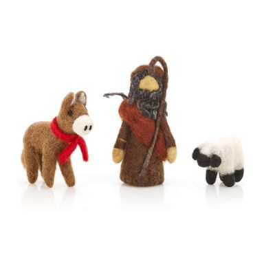 Nativity Set 2 (Shepherd, Donkey and Lamb)