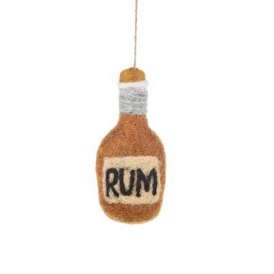 Handmade Felt Bottle of Rum Hanging Decoration