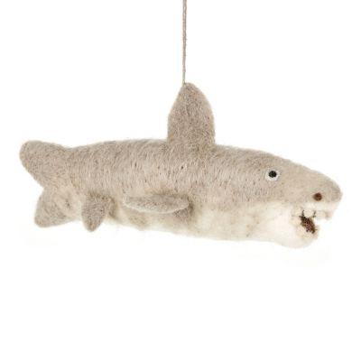 Handmade Felt Bruce the Shark Hanging Felt Decoration