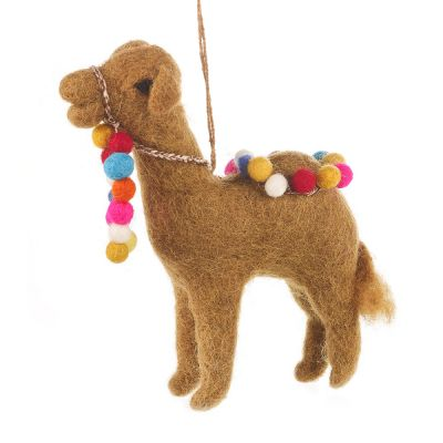 Handmade Felt Carla the Camel Biodegradable Hanging Decoration