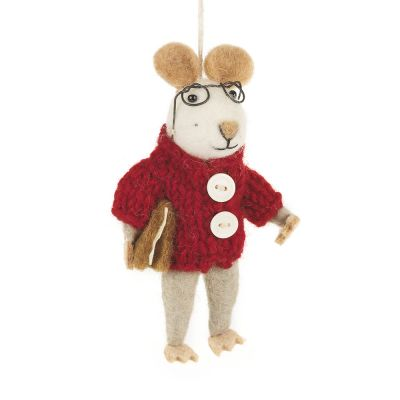 Handmade Felt Charlie Mouse Hanging Decoration