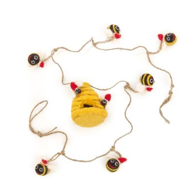 Handmade Felt 120cm Christmas Bumblebee Garland Home Decoration