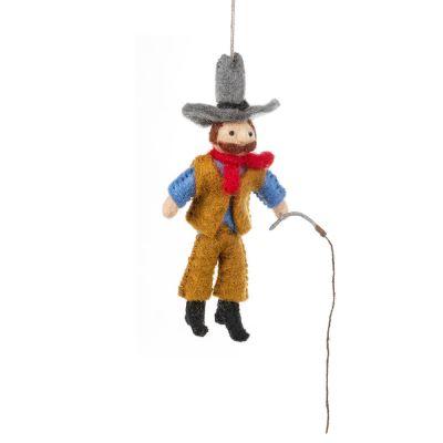 Handmade Felt Clint the Cowboy Hanging Decoration