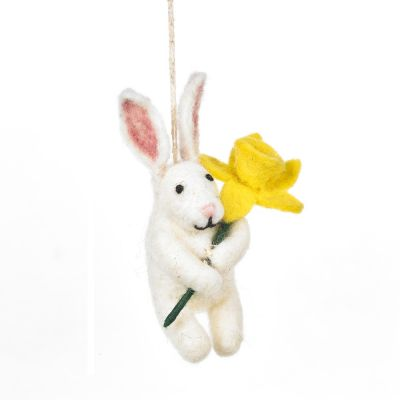 Handmade Felt Delilah Bunny Hanging Easter Decoration