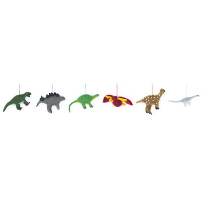 Handmade Felt Dinosaurs Hanging Biodegradable Decoration