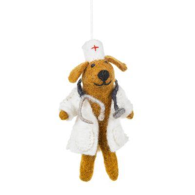 Handmade Felt Dog Doctor Hanging Decoration
