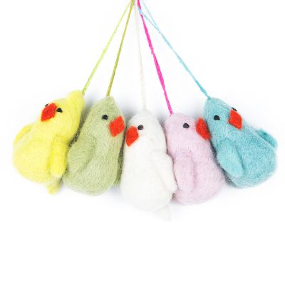 Handmade Felt Easter chicks (Set of 5) Hanging Decorations