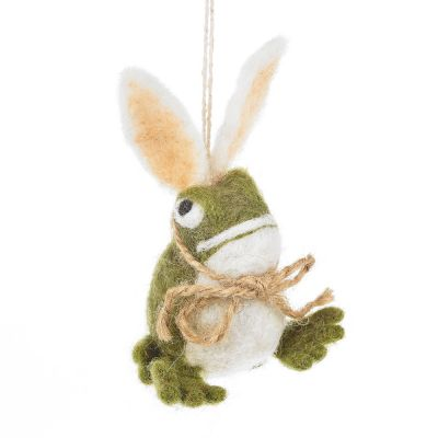 Handmade Felt Easter Toad Hanging Decoration