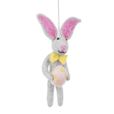 Handmade Felt Edgar Easter Bunny Hanging Decoration