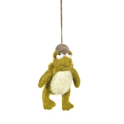 Handmade Needle Felt Edward Hopper Hanging Toad Decoration