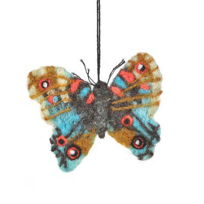 Handmade Felt Emperor Butterfly Hanging Biodegradable Decoration