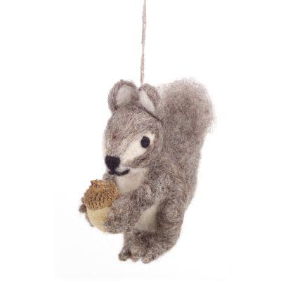 Handmade Felt Eric the Squirrel Hanging Felt Decoration