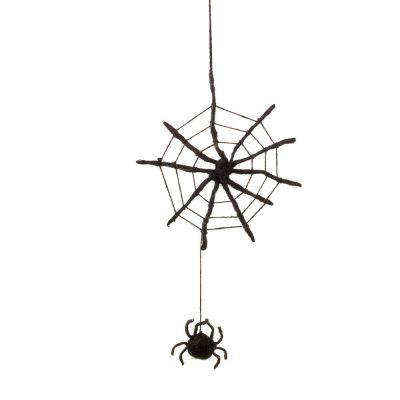 Handmade Felt Fair Trade Spooky Spiderweb Hanging Halloween Decoration