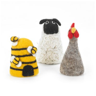 Handmade Felt Egg Farmyard Friends Biodegradable Egg Cosy